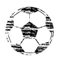 black and white stamp football world cup isolated vector image