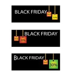 Black Friday Label with Percentages Discount Sale vector image