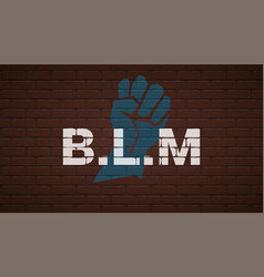 black lives matter text on brick wall with white vector image