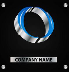 blue 3d logo-01 vector image