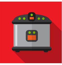 Breadmaker flat icon vector