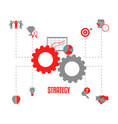 business project and strategy concept business vector image
