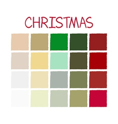 Christmas Classic Color Tone vector