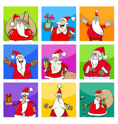 christmas design with santa claus vector image