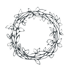 Decorative laurel wreath isolated on white vector