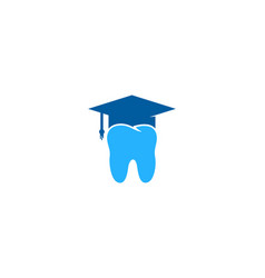 dental education logo icon design vector image