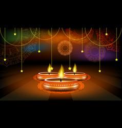 diwali festival sale poster or flyer or vector image