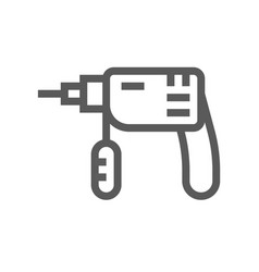 drill home repair and tools line icon vector image