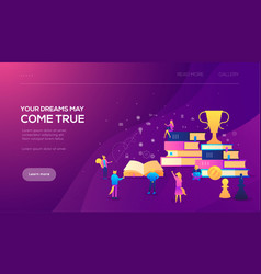 Education consulting college education app vector
