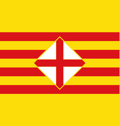 flag of barcelona is a province of spain vector image