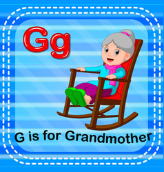 flashcard letter g is for grandmother vector image