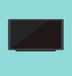 flat black television with blue background vector image