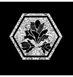 Floral logo 02 grunge vector