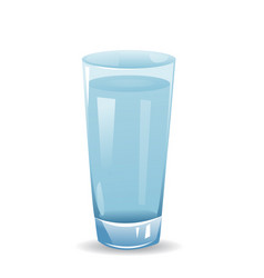 Glass with water isolated on white background vector
