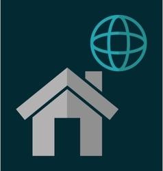 Globa housel social network design vector