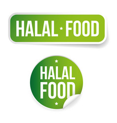 halal food label sign vector image
