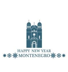 Happy New Year Montenegro vector image