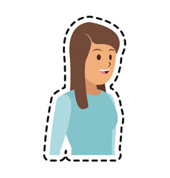 Happy woman icon image vector