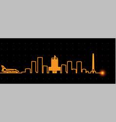 Houston light streak skyline vector