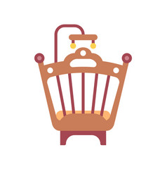 infant bed flat icon vector image