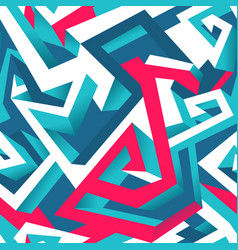 isometric geometric seamless pattern vector image