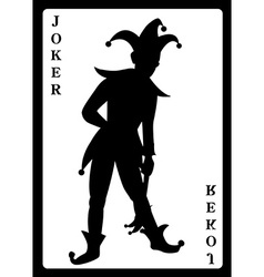 Joker playing card vector image