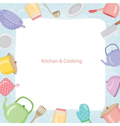 Kitchen Equipment Border vector image