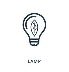 lamp icon flat style icon design ui vector image