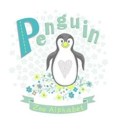 letter p - penguin vector image