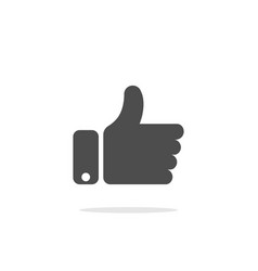 like icon in flat style isolated on white vector image