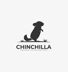 Logo chinchilla stands silhouette vector