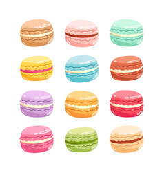 Macarons set vector