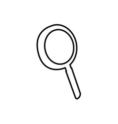 Magnifying glass tool icon vector