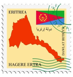 mail to-from Eritrea vector image
