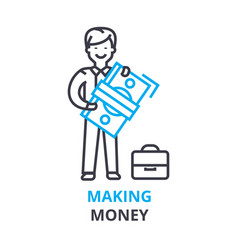 making money concept outline icon linear sign vector image