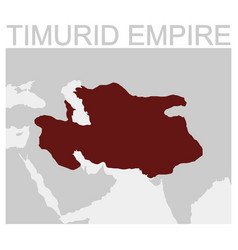 Map of the timurid empire vector