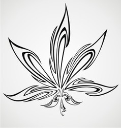 Marijuana Leaf Tattoo Design vector image