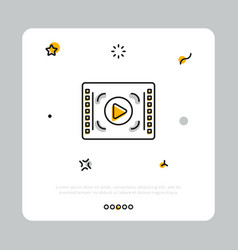 Media player icon on white vector