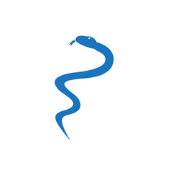 medical snake graphic design template isolated vector image