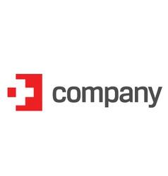 Medicine red cross logo vector