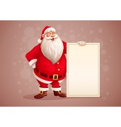 Merry Santa Claus standing vector image