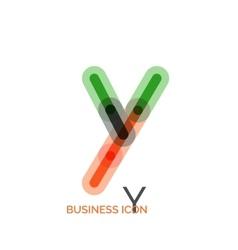 Minimal line font design letter Y vector
