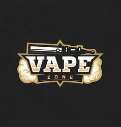 modern professional logo emblem vape zone vector image