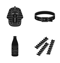 nemes a collar and other web icon in black style vector image