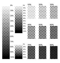 Opaque linear gradients in perfect arrangement vector