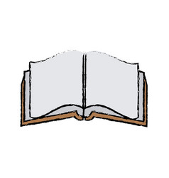 open book literature encyclopedia learn vector image