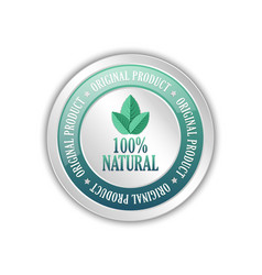 Original natural product badge icon vector