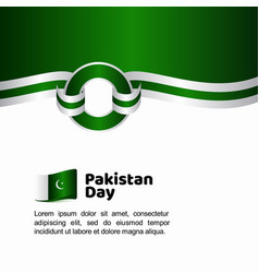 Pakistan day flag template design vector
