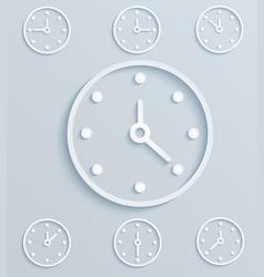 paper clock set of mechanical clock vector image
