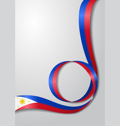 Philippines flag wavy background vector